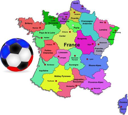 France football illustration Illustration