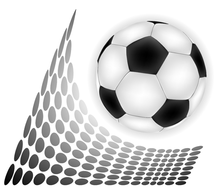 Football over abstract backgropund illustration Stock Vector - 8242965