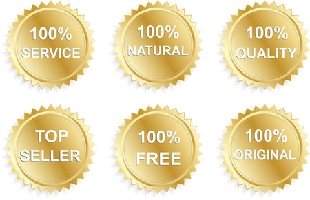 best seller: Six vector business promo stickers