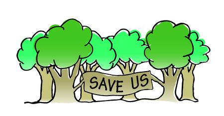 save tree: Save the trees vector illustration