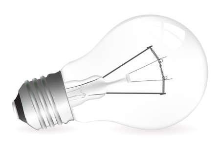 energetics: Light bulb vector illustration