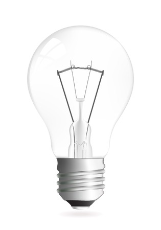 Light bulb vector illustration isolated over white