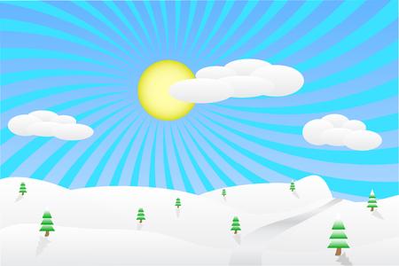winter wheat: Winter landscape vector illustration Illustration