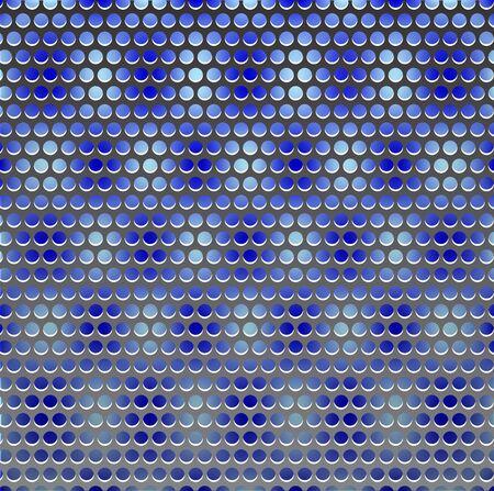 grille: Vector metal grille on blue Illustration