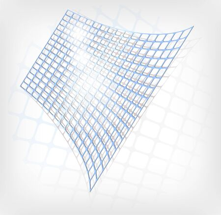 Vector abstract blue grid Stock Vector - 8786670