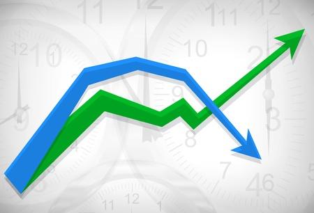 busines: Vector clocks busines diagram background