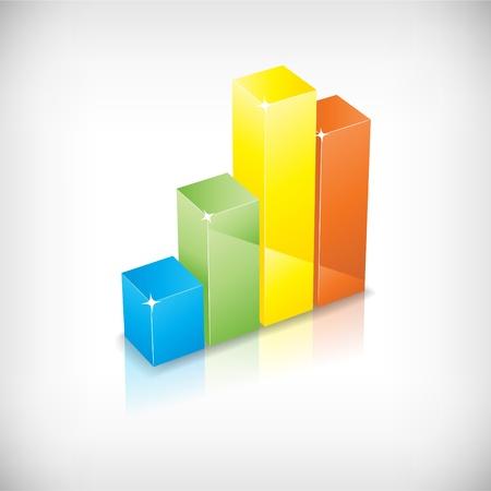 Vector color chart Illustration