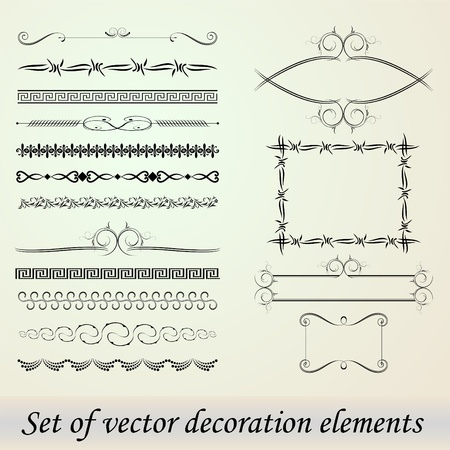 Set of Vector decoration elements Vector