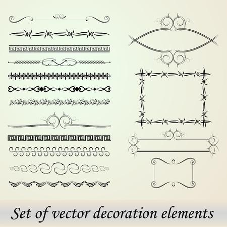 Set of Vector decoration elements