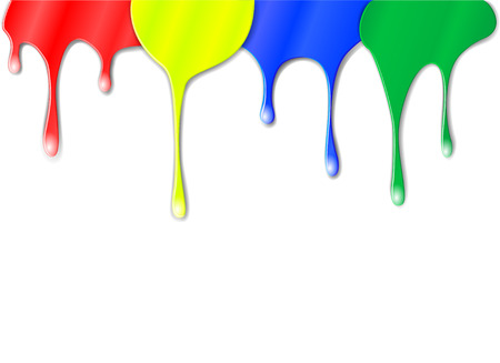 Vector drips of color paint Vector