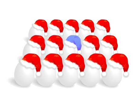 Santa cap over eggs Stock Vector - 11138270