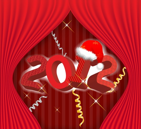 2012 year holiday illustration Vector