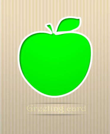 Apple postcard vector illustration Stock Vector - 11511680