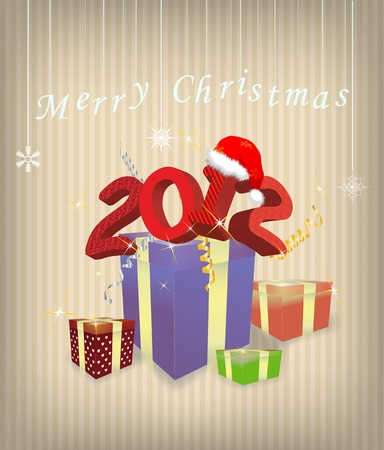 Gift box 2012 year vector illustration Vector