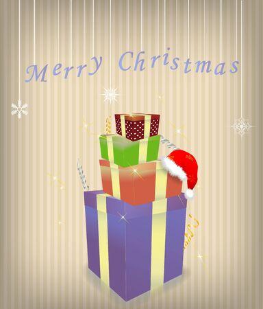 Merry Christmas vector illustration Vector