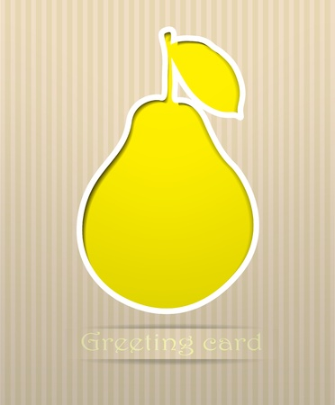pear: Pear postcard vector illustration