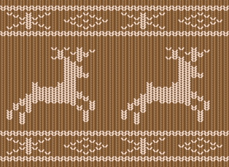 knitted fabrics: Knitted Christmas seamless background