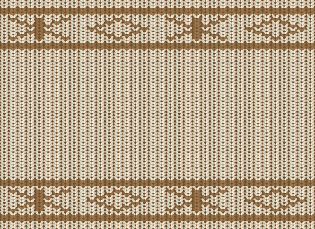 Knitted Christmas seamless background Vector