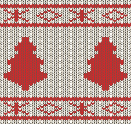 knitted background: Knitted Christmas seamless background