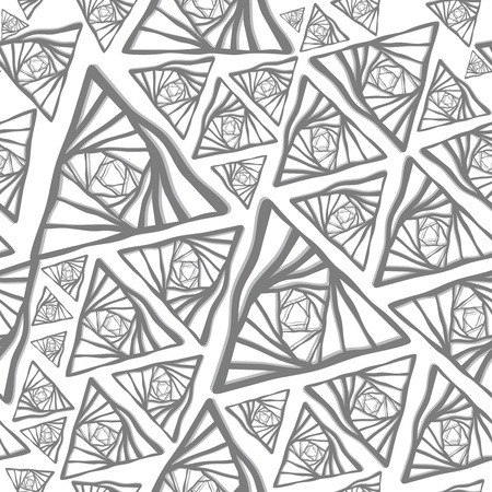 Abstract grey triangle seamless vector background
