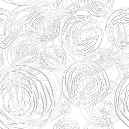 grey backgrounds: Abstract circles seamless vector background