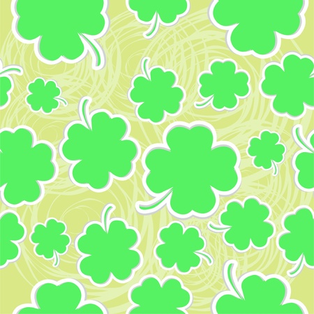 sheeted: Abstract green clover seamless vector background