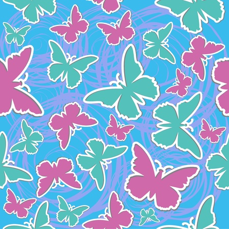 Butterfly seamless vector background Vector