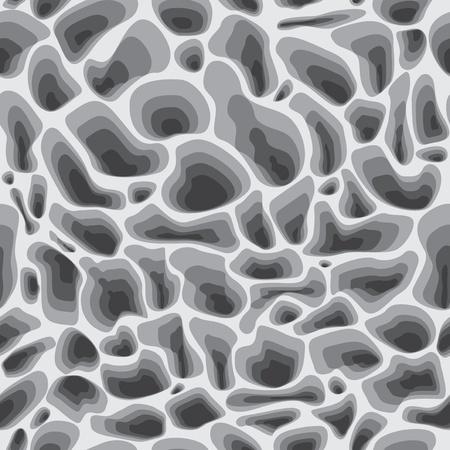 stein schwarz: Stein nahtlose Illustration