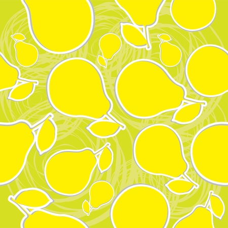 Pear seamless illustration background Vector