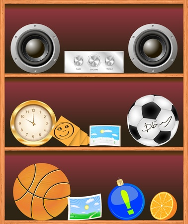 illustration bookshelf illustration Vector