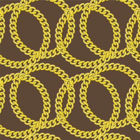Golden chain seamless vector Vector