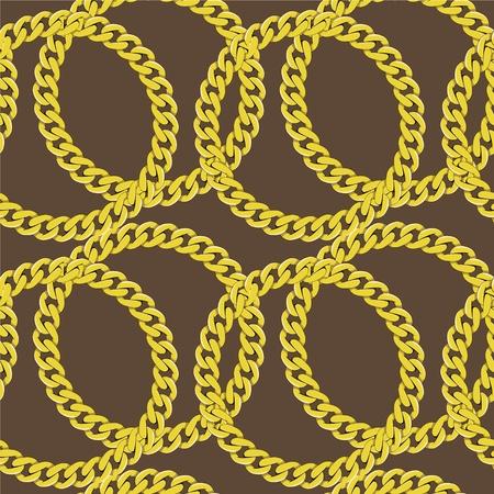 in ketten: Goldene Kette nahtlose Vektor