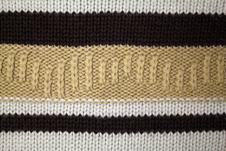 Knitted wool background with pattern