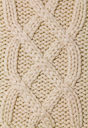 Knitted wool background with pattern photo