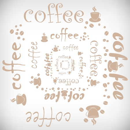 Vector coffee abstract background