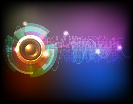 audio wave: Neon music background vector Illustration