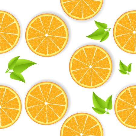 lemon tree: Vector orange seamless background
