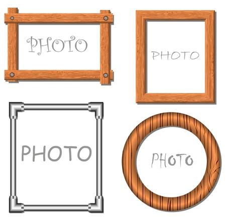 Vintage vector photo frames illustration Stock Vector - 12927302