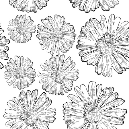 Seamless floral background black and white Stock Vector - 12927297