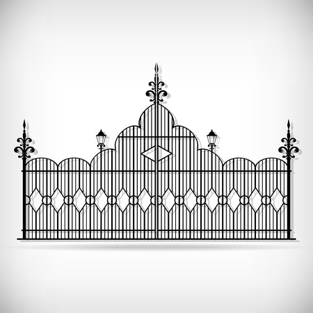 cast iron: Wrought iron vector set