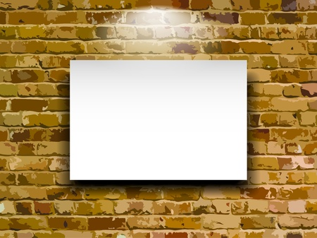 bill board: Billboard on brick wall, vector