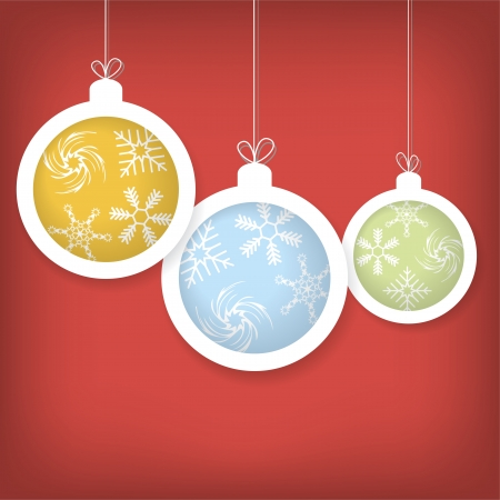 Card with Christmas balls  Vector