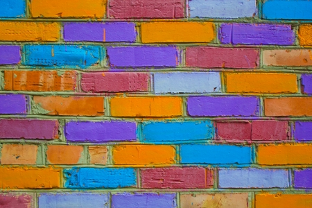 multicolored bricks Stock Photo