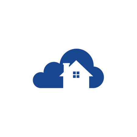 Cloud technology home vector icon