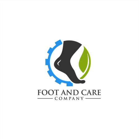 Icona di vettore di assistenza sanitaria per la cura del piede e della caviglia