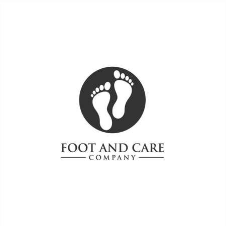 Icono de vector de cuidado de los pies y el tobillo