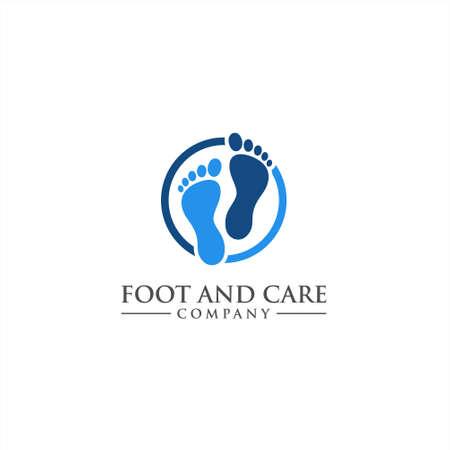 Cuidado de los pies y el tobillo icono de vector de salud