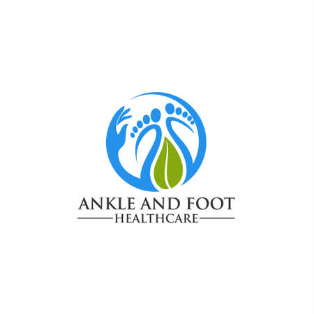 Foot and care logo icon, Foot and care icon logo template, Foot and ankle healthcare icon Logo