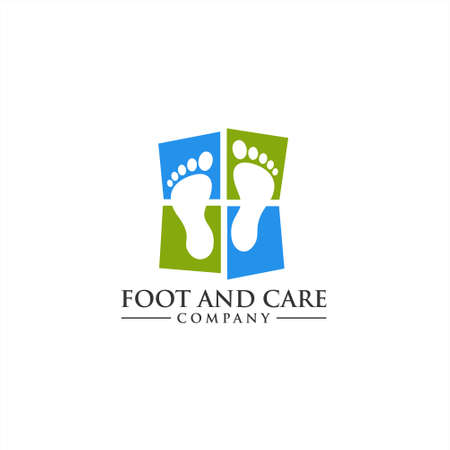 Foot and care logo icon, Foot and care icon logo template, Foot and ankle healthcare icon