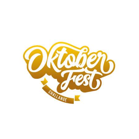 Oktober Festival banner lettering, Oktober Beer Festival icon